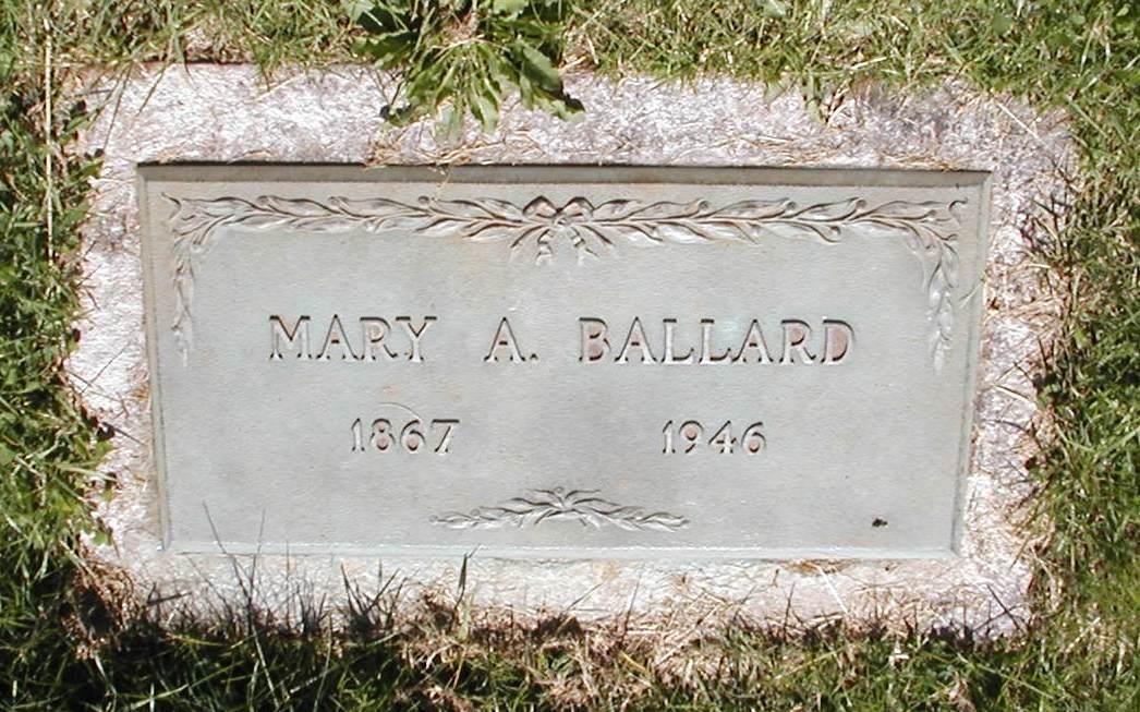 Mary Ann <i>Rupe</i> Ballard