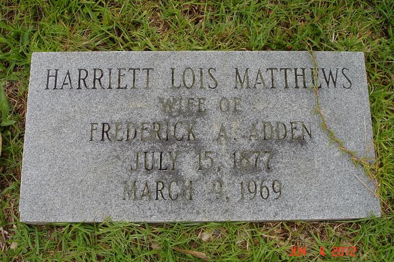 Harriett Lois <i>Matthews</i> Adden
