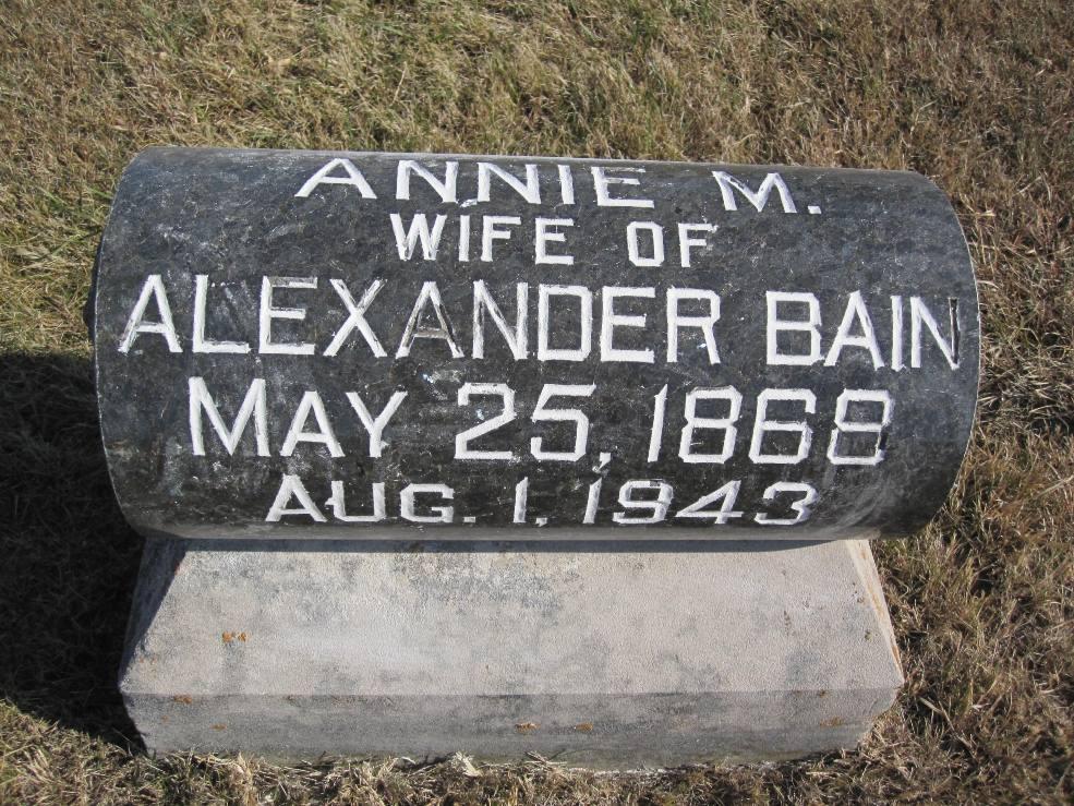 Annie M <i>Frakes</i> Bain