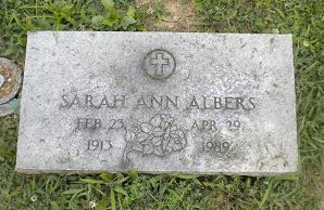 Sarah Ann <i>Sage</i> Albers