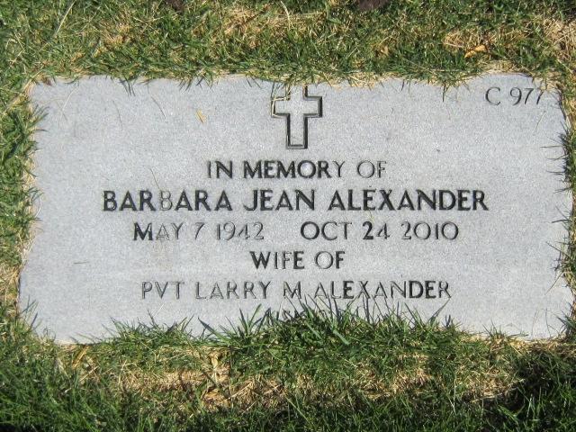 Barbara Jean Alexander