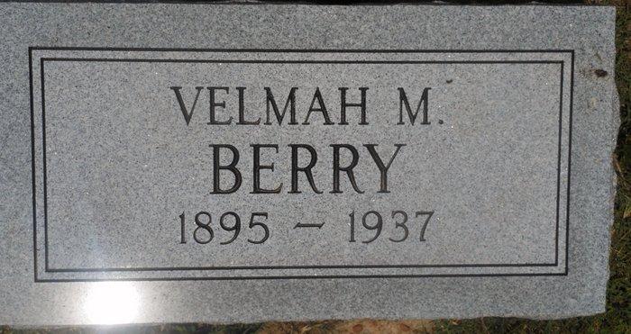 Velmah M <i>Holt</i> Berry