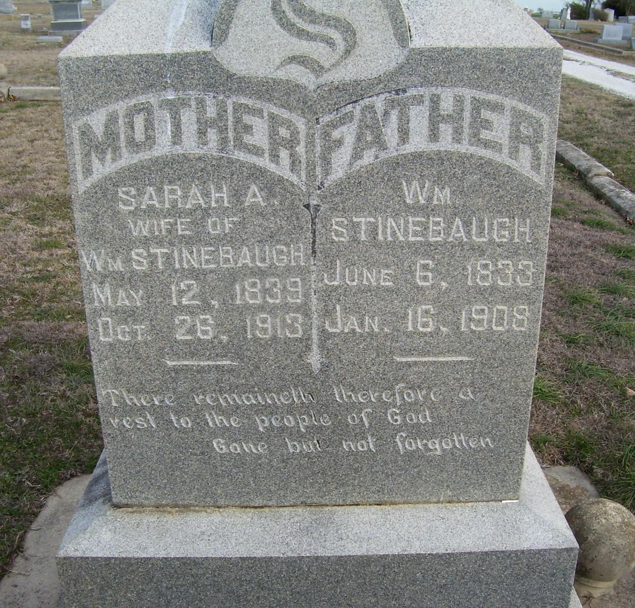 Sarah A <i>Austin</i> Stinebaugh
