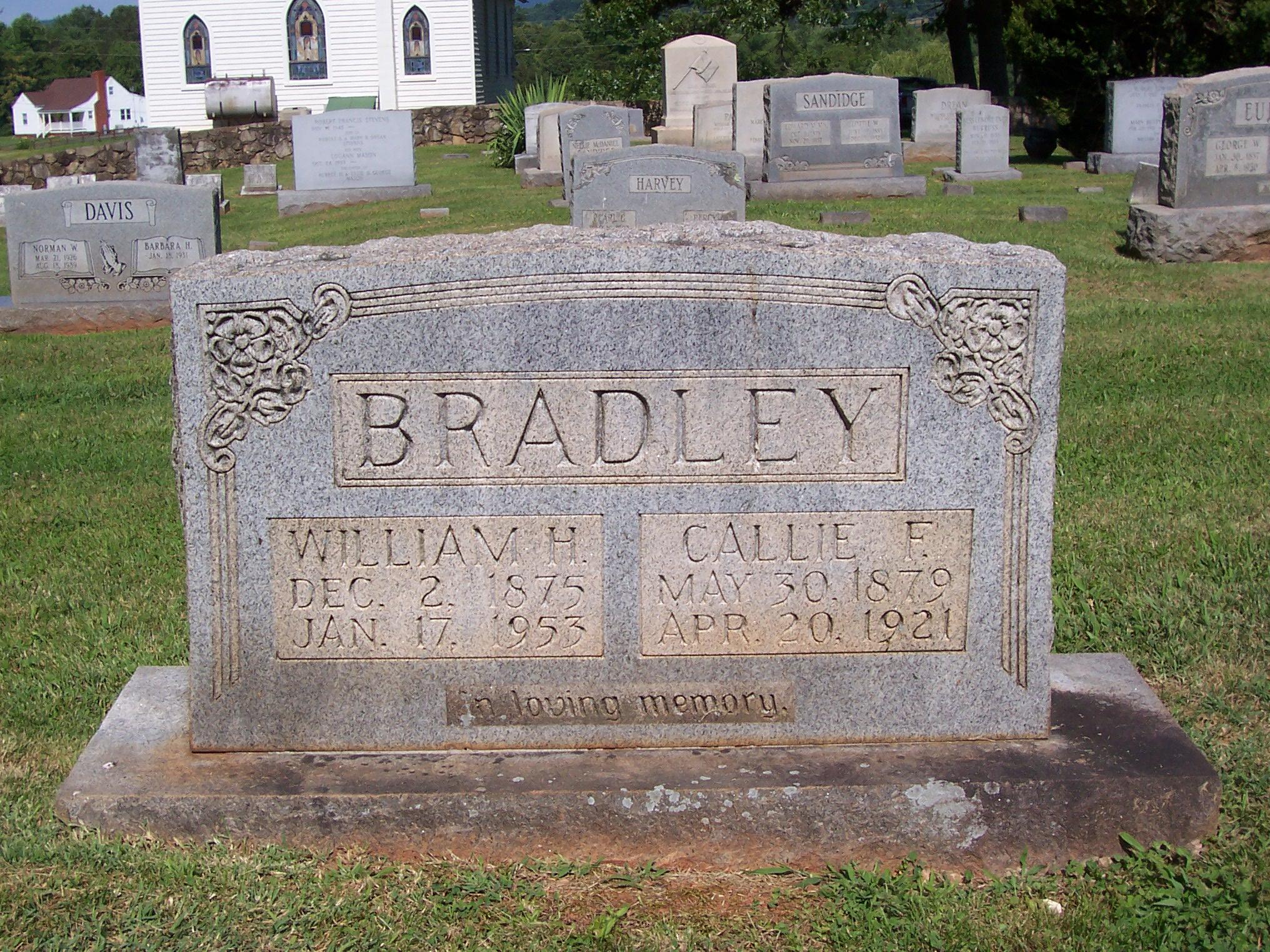 Callie F. <i>Burks</i> Bradley