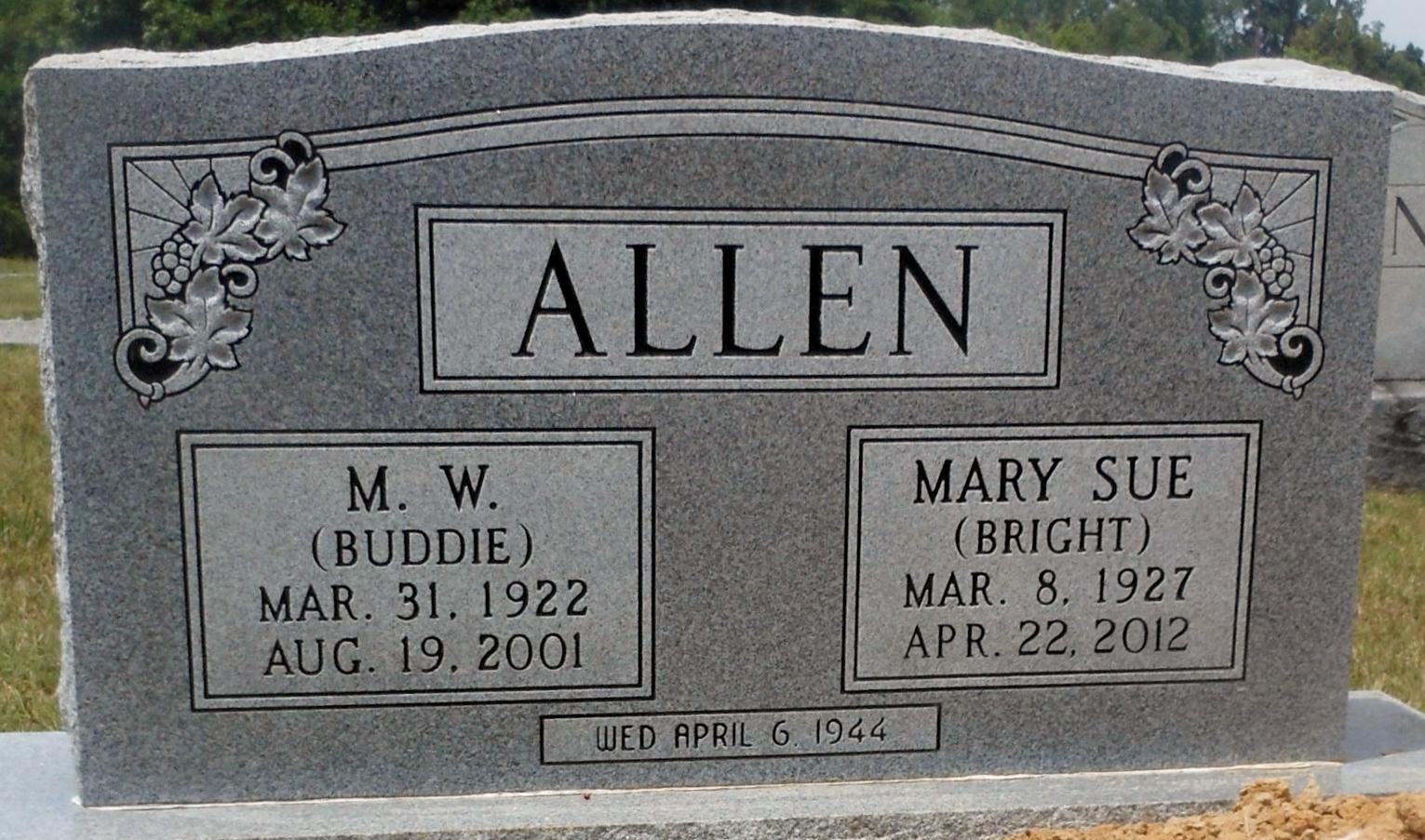 Marion Webb Buddie Allen