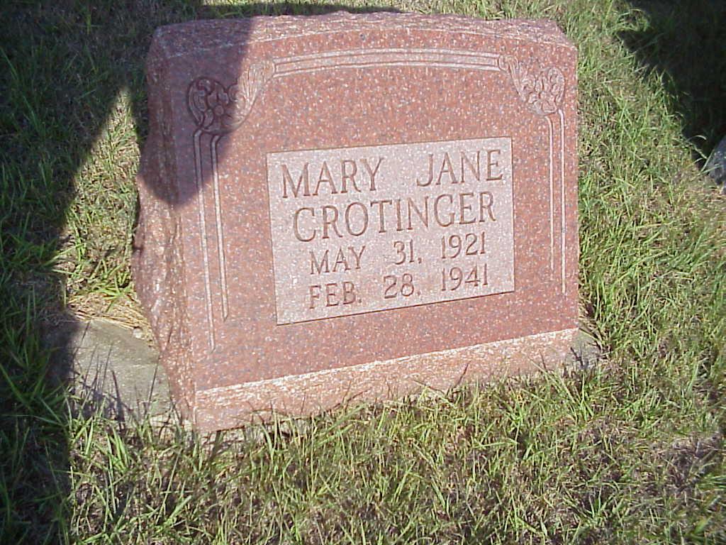 Mary Jane Crotinger
