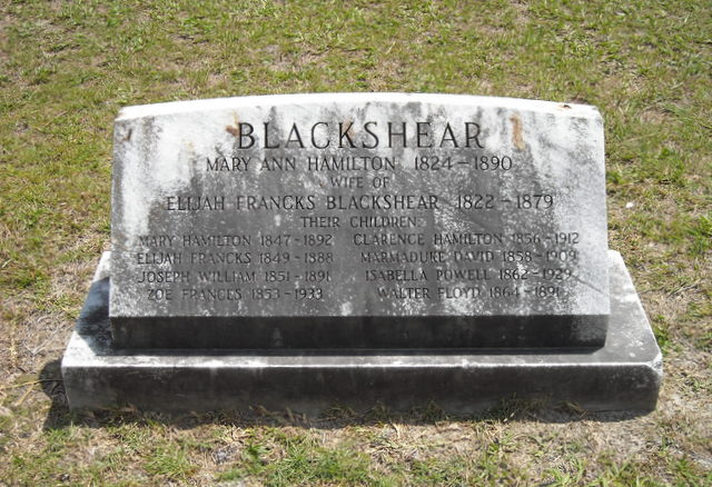 Mary Ann Lafayette <i>Hamilton</i> Blackshear
