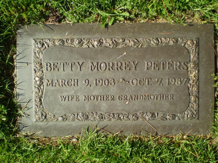 Eulala H Betty <i>Morrey</i> Peters