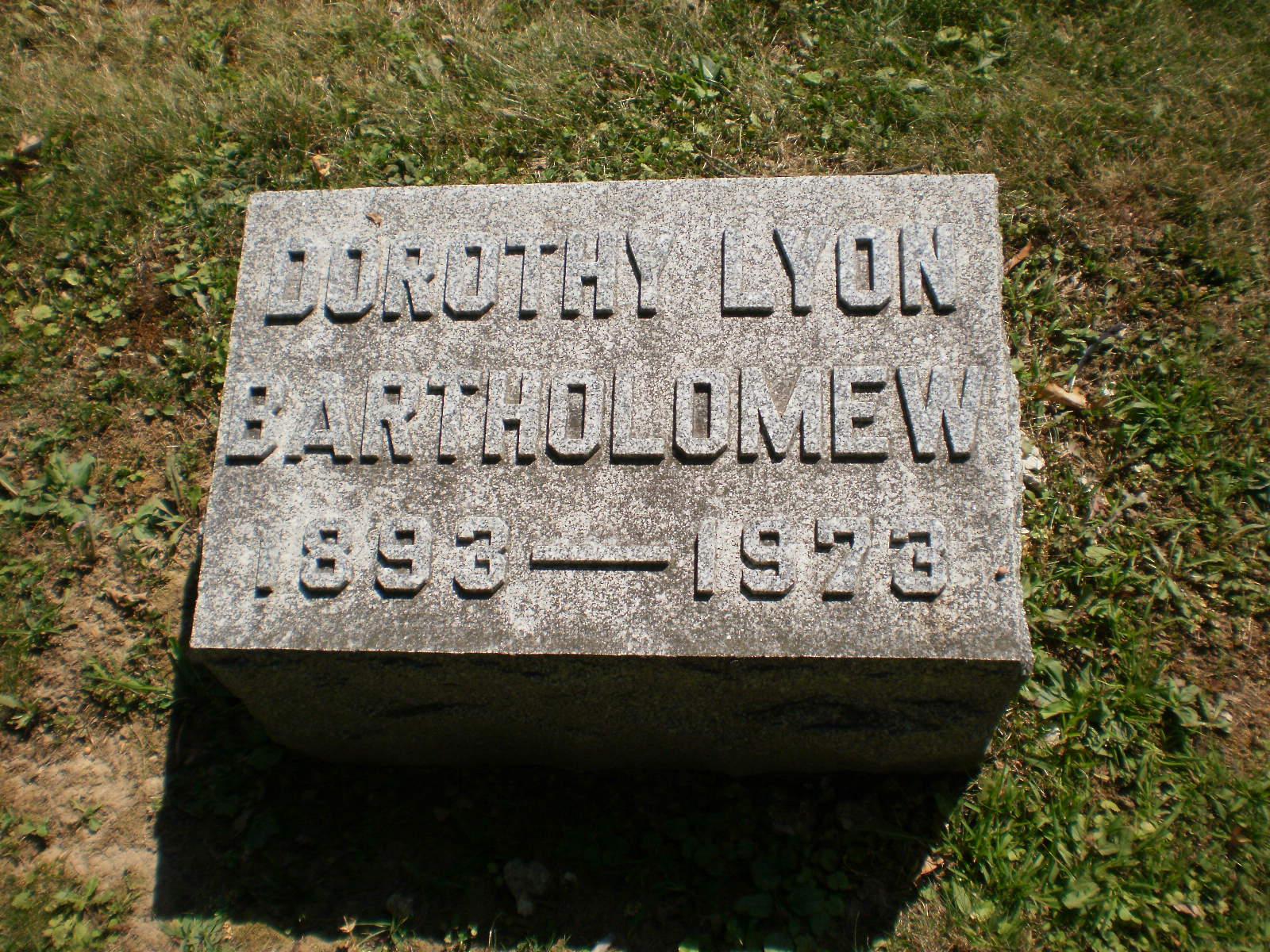 Dorothy <i>Lyon</i> Bartholomew