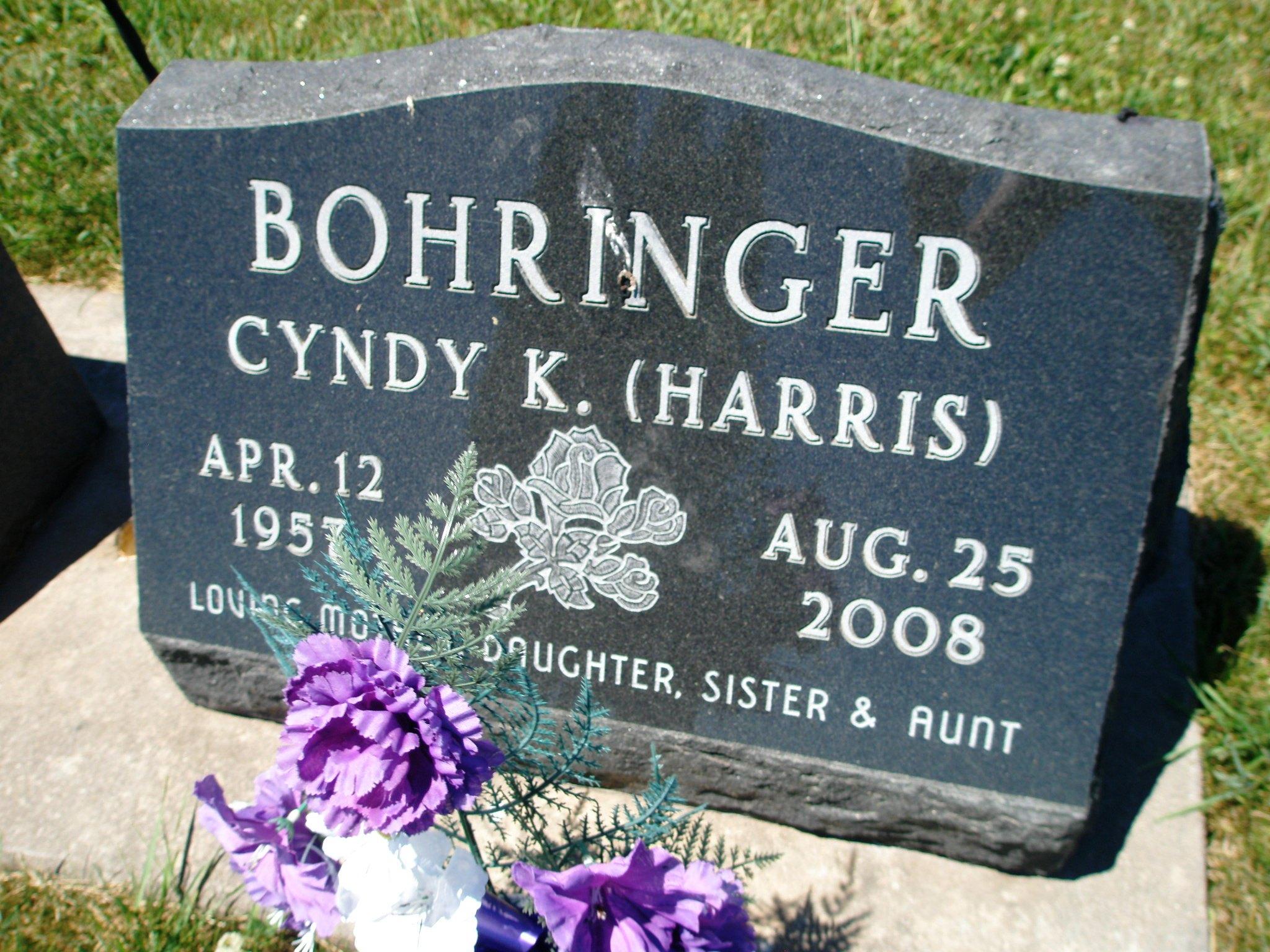 Cyndy Kay <i>Harris</i> Bohringer