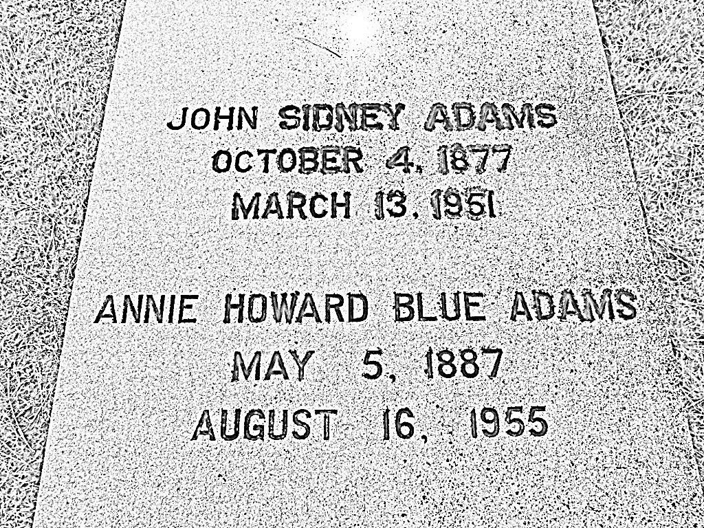 Annie Howard <i>Blue</i> Adams