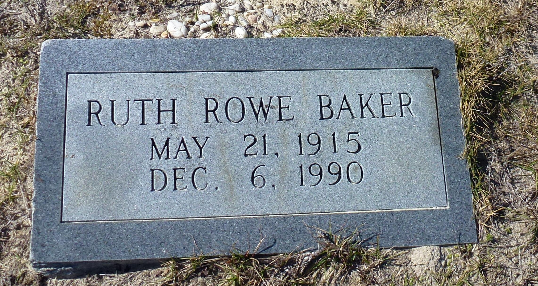 Ruth <i>Rowe</i> Baker