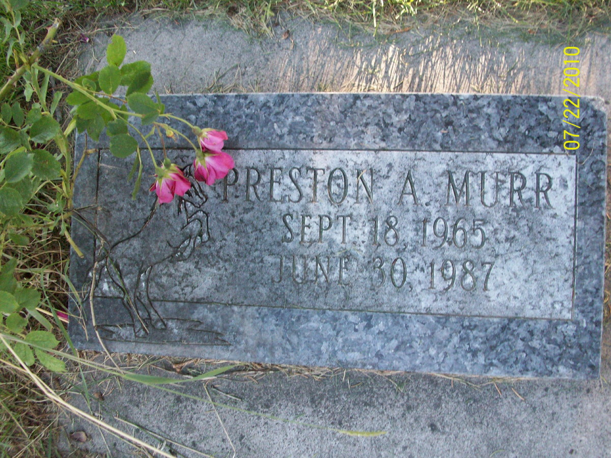 Preston A Murr (1965-1987) - Find A Grave Memorial