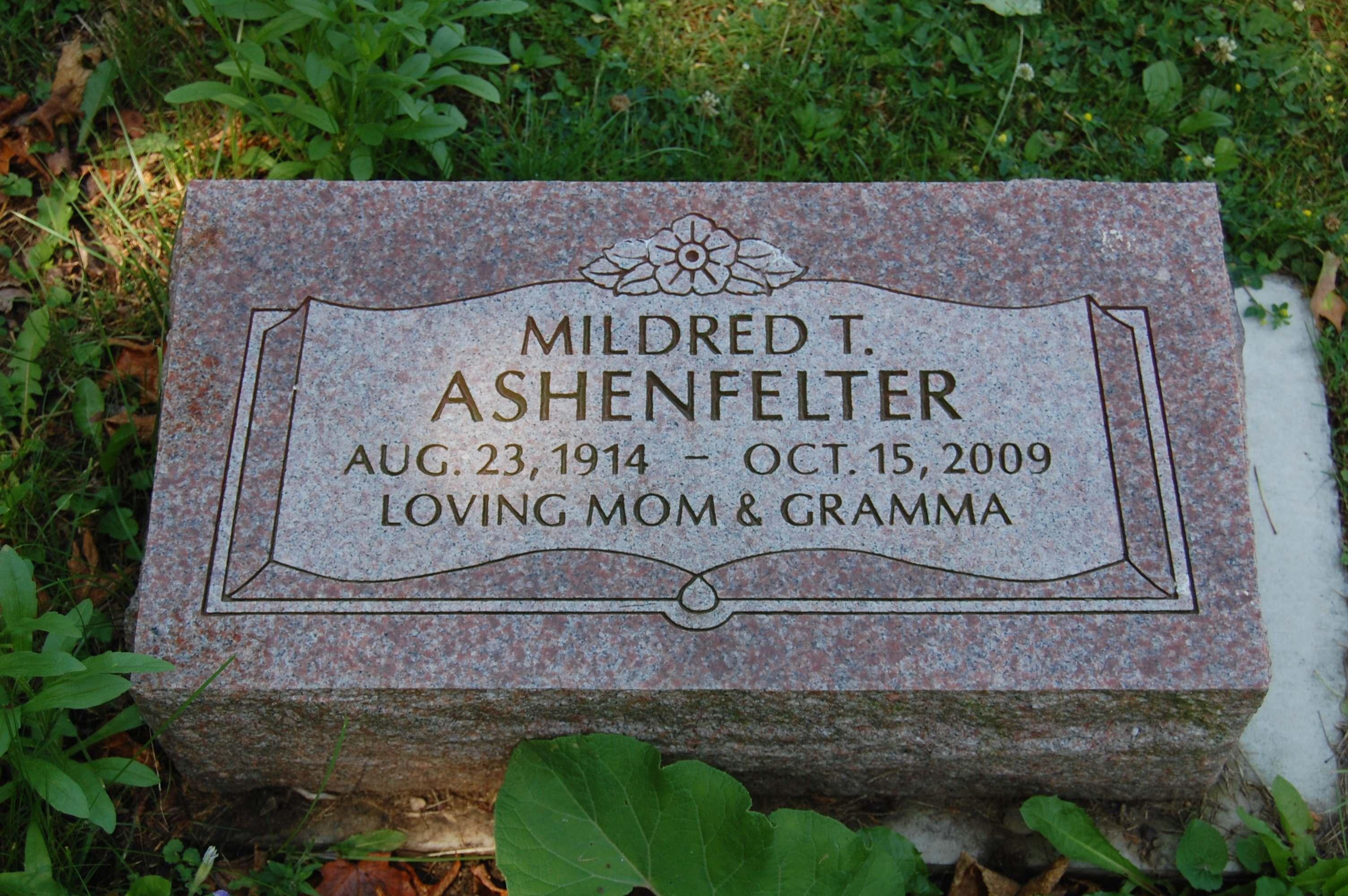 Mildred Thelma <i>Anthony</i> Ashenfelter