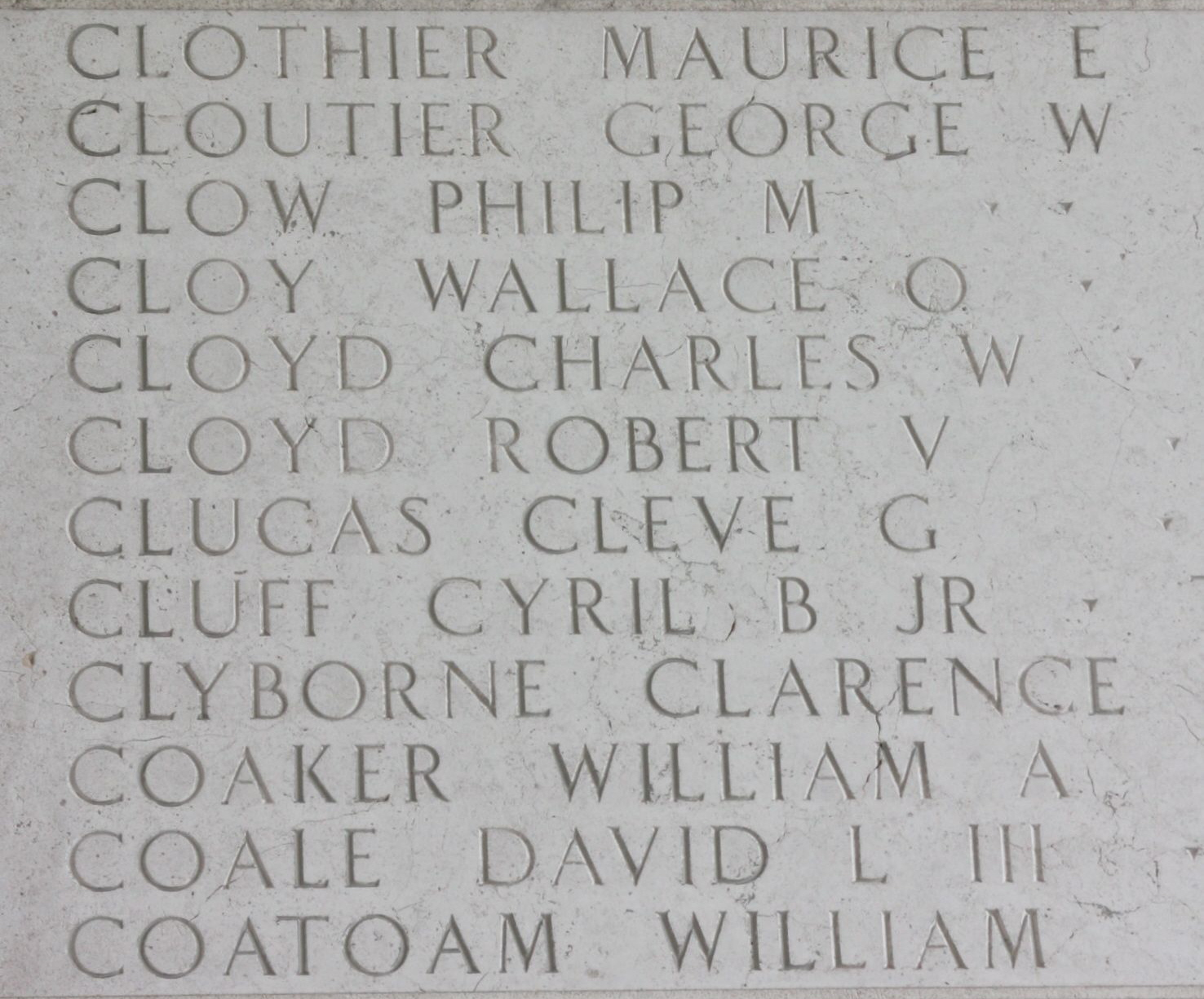 Sgt Charles William Cloyd