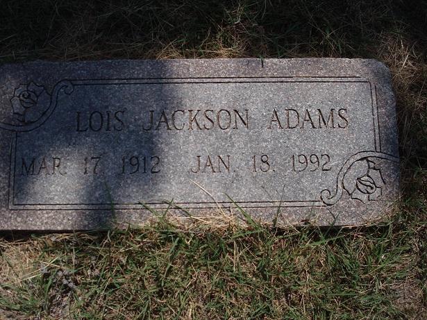 Lois <i>Jackson</i> Adams