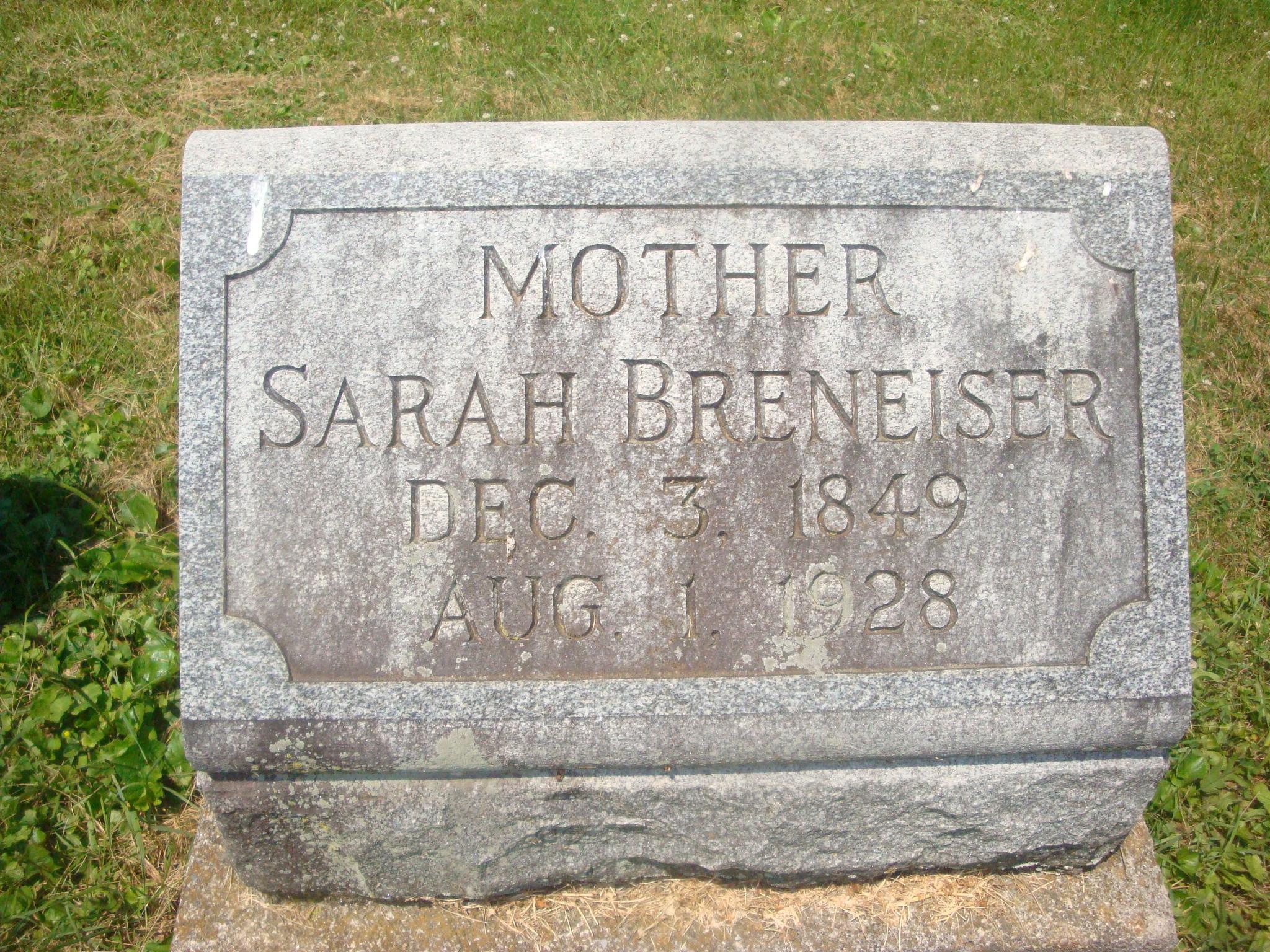 Sarah Sallie <i>Hower</i> Breneiser