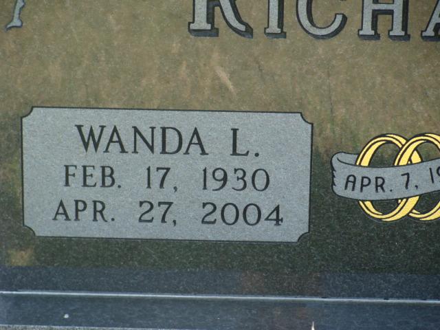 Wanda Louise <i>Bookless</i> Richards