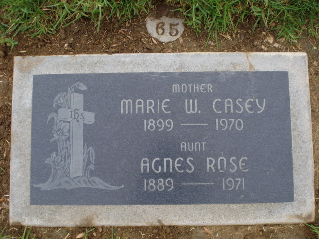 Marie W <i>Griffin</i> Casey