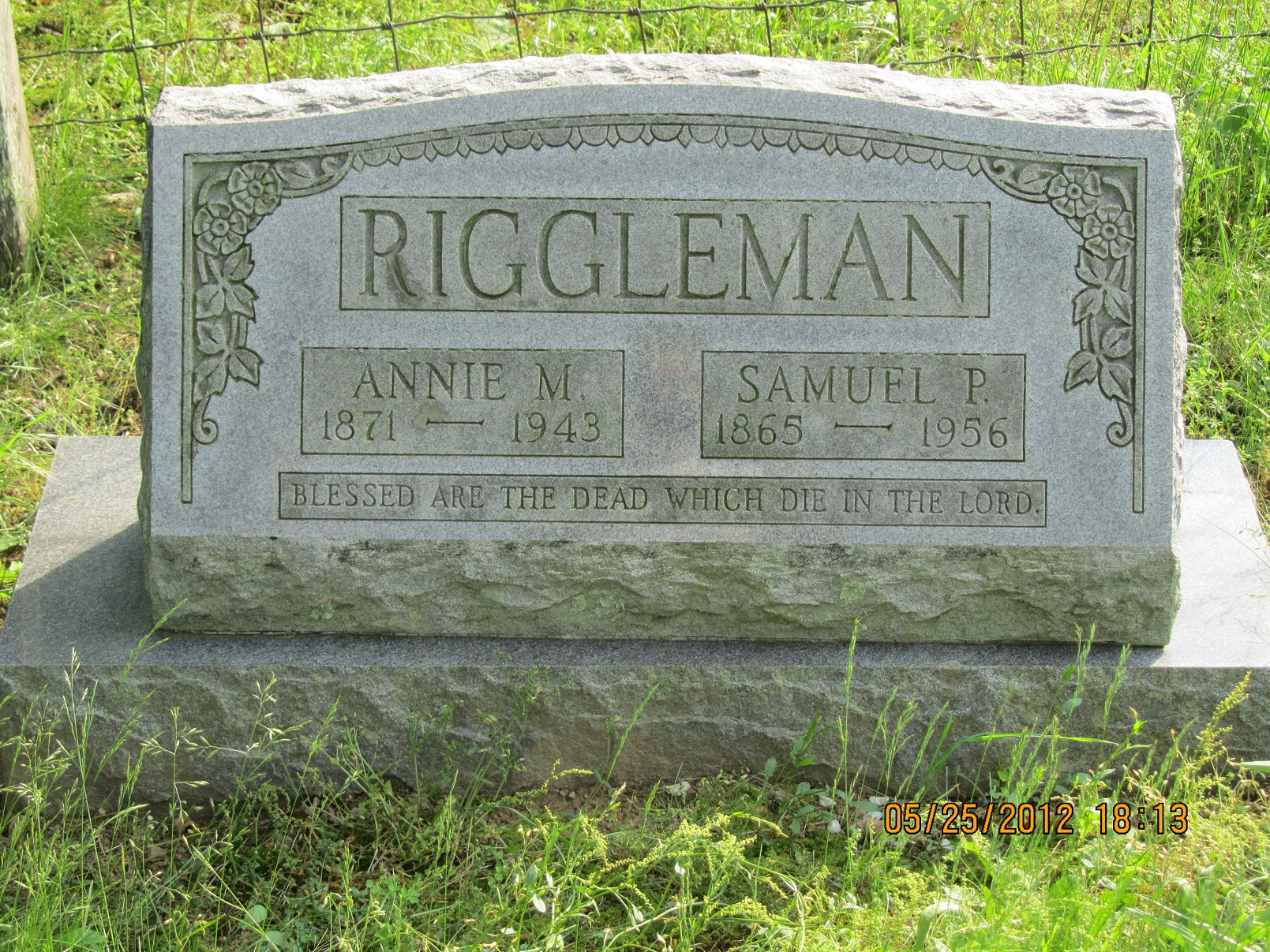 Annie M <i>Ayers</i> Riggleman