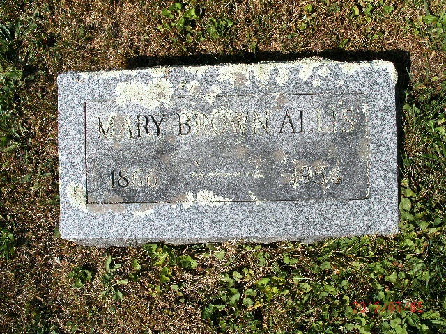 Mary Etta <i>Herman</i> Brown Allis