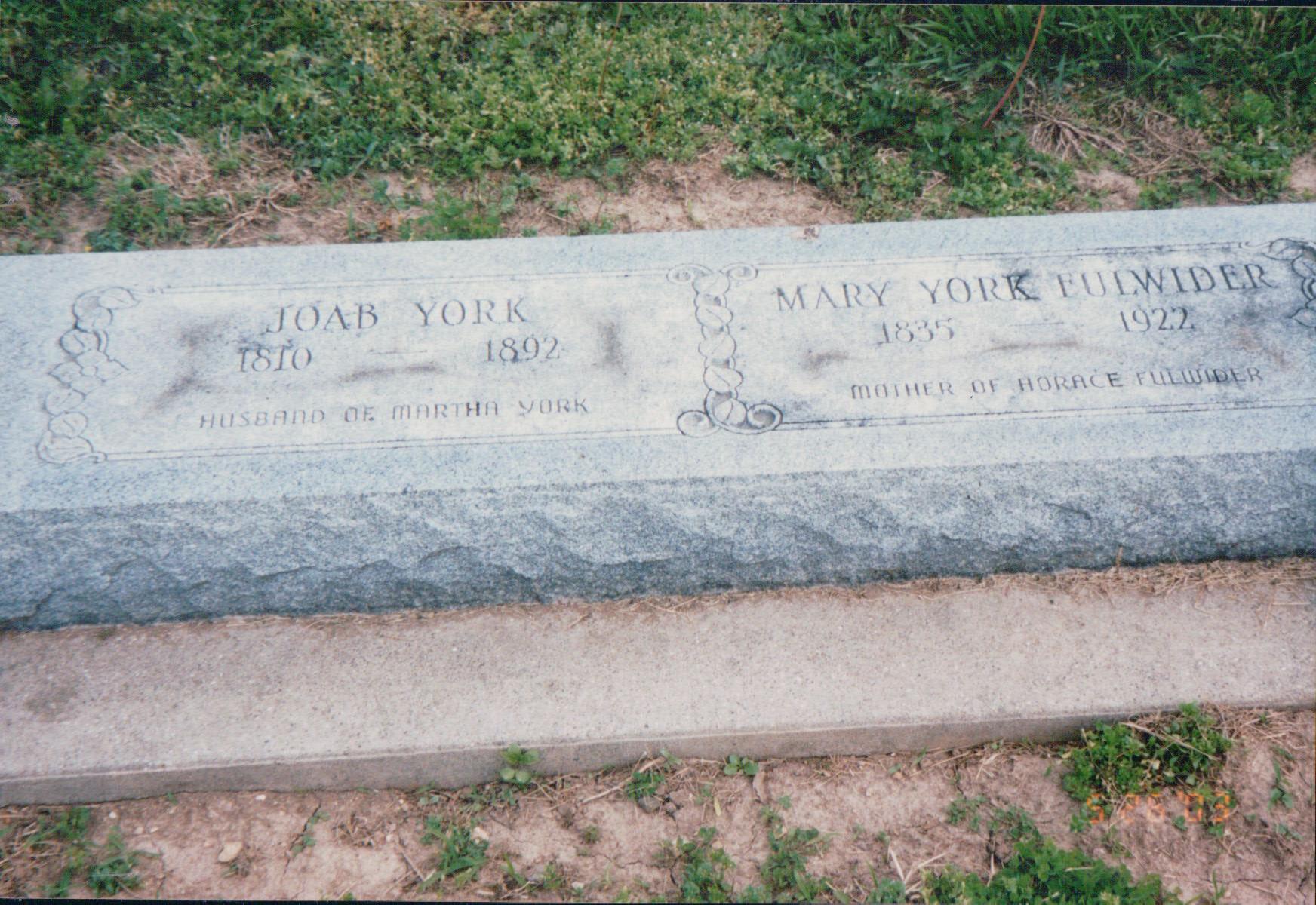 Mary Melinda <i>York</i> Fulwider