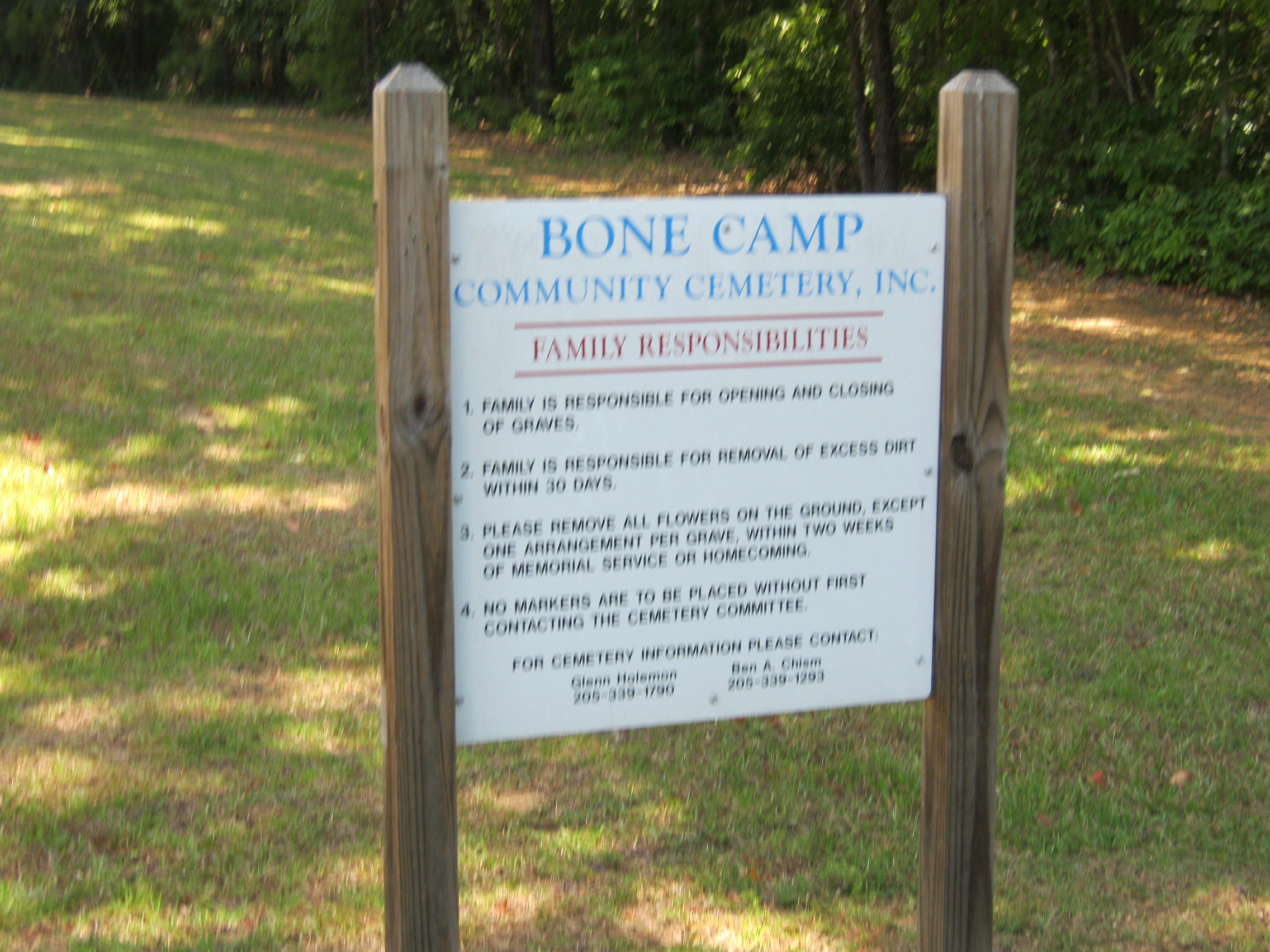 Bone Camp Cemetery