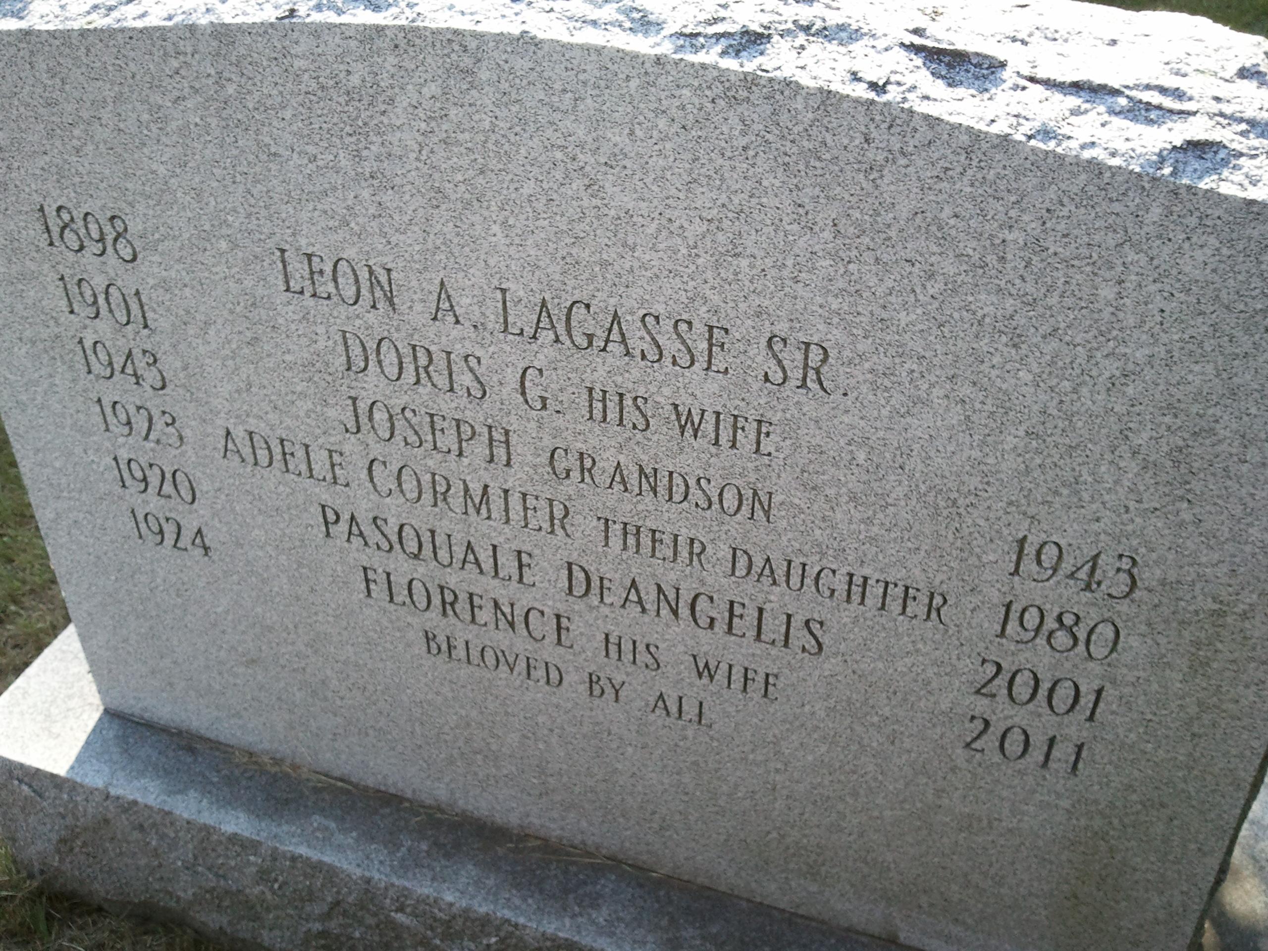 Florence Elizabeth <i>Lagasse</i> DeAngelis