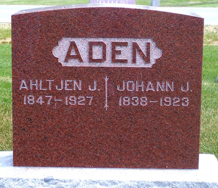 Ahltjen Jansen <i>Klattenberg</i> Aden