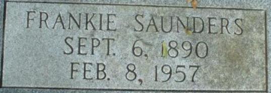Frances Frankie <i>Saunders</i> Adams