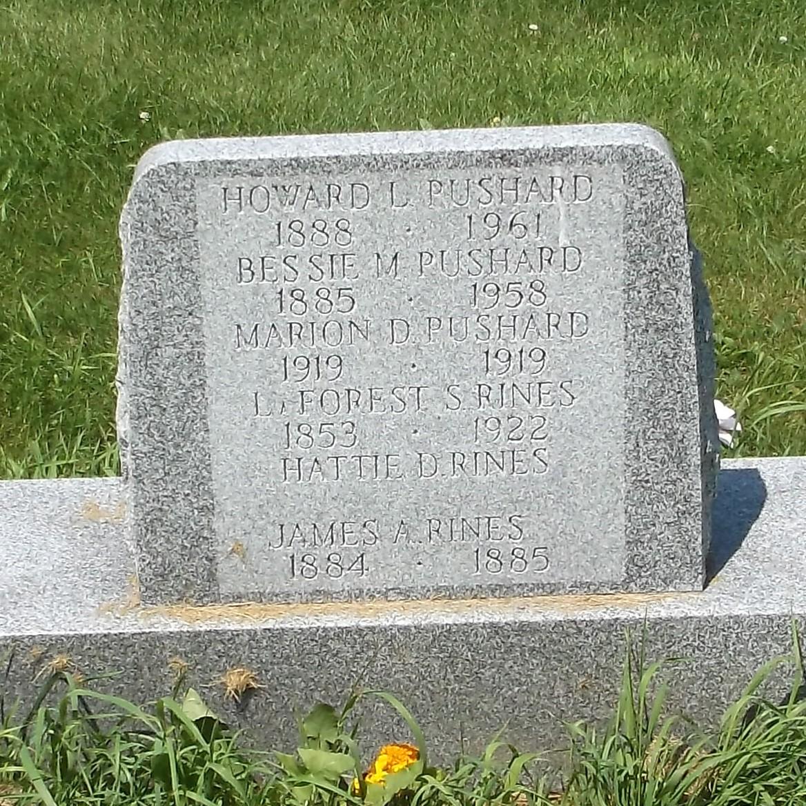 Bessie M. <i>Rines</i> Pushard
