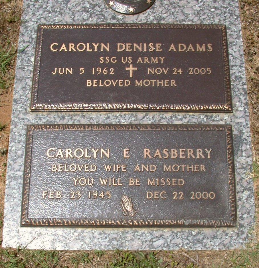 Carolyn Denise <i>Rasberry</i> Adams