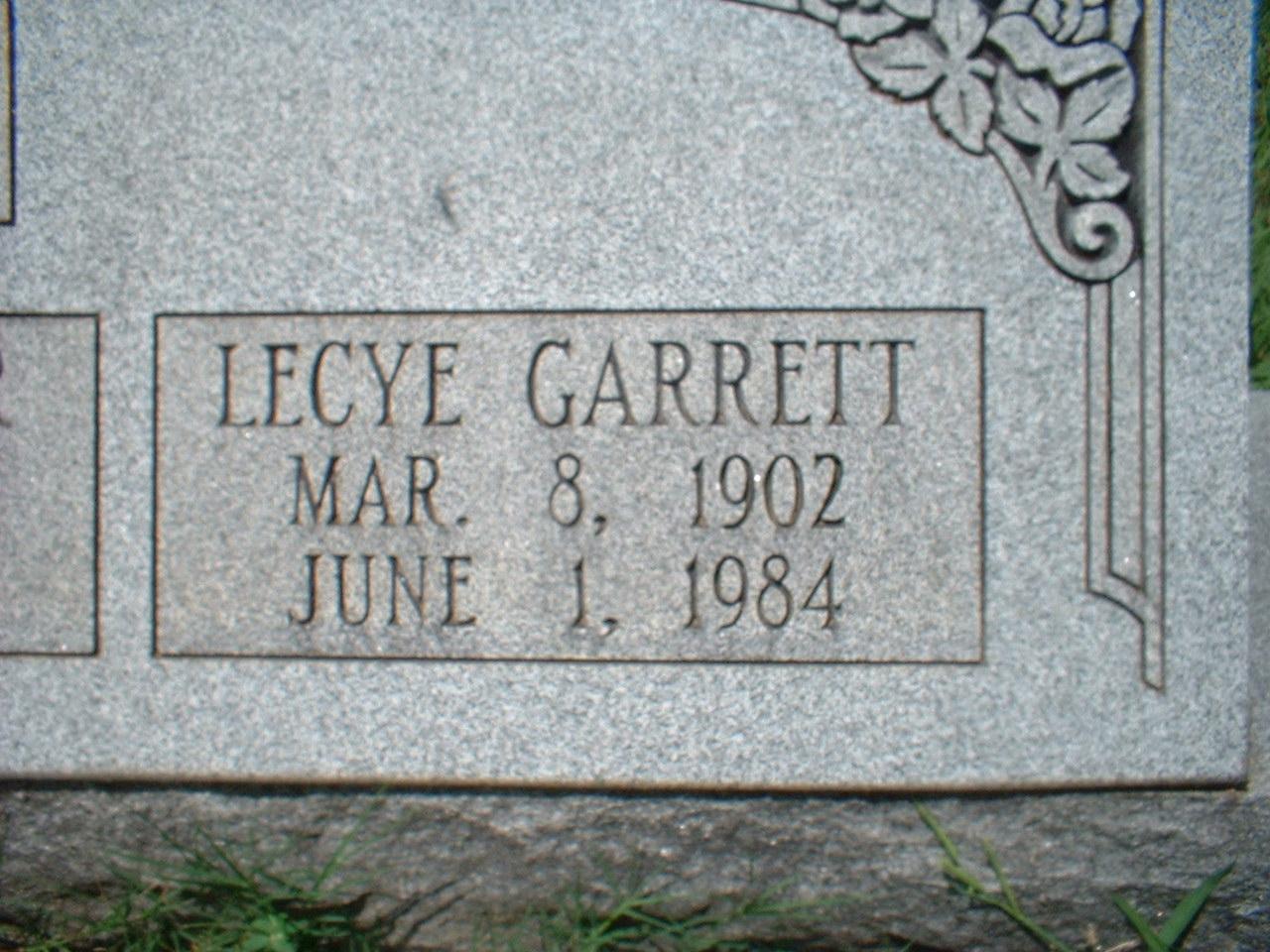 Lecye <i>Garrett</i> Billings