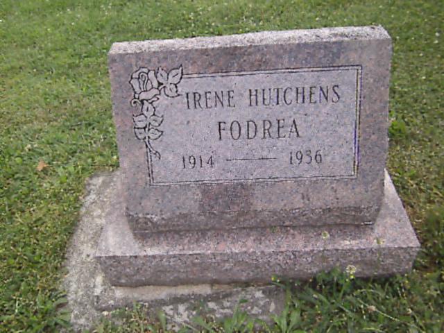 Irene <i>Hutchens</i> Fodrea