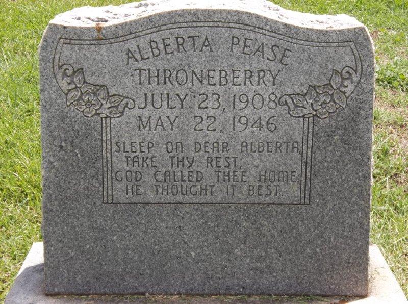Alberta <i>Pease</i> Throneberry