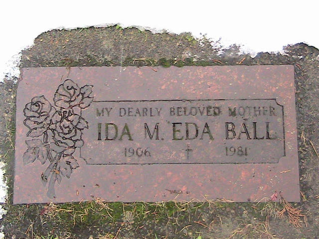 Ida Maude Eda <i>Lutz</i> Cloninger-O'Connor-Ball