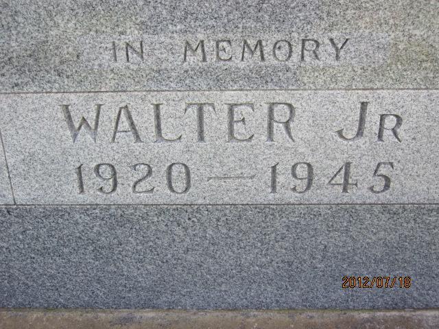 Maj Walter Sidney Butler, Jr