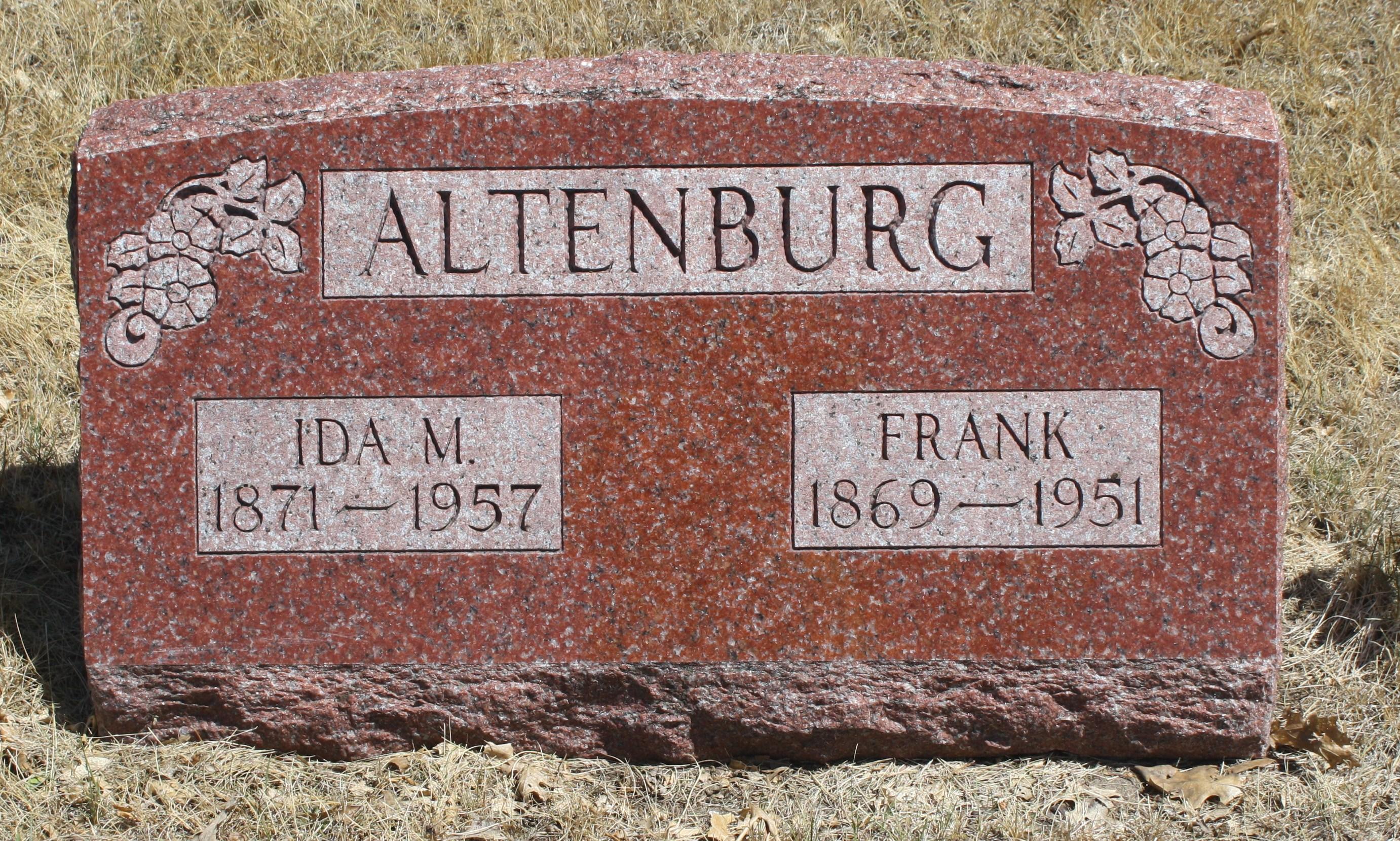 Ida Melissa <i>Langton</i> Altenburg