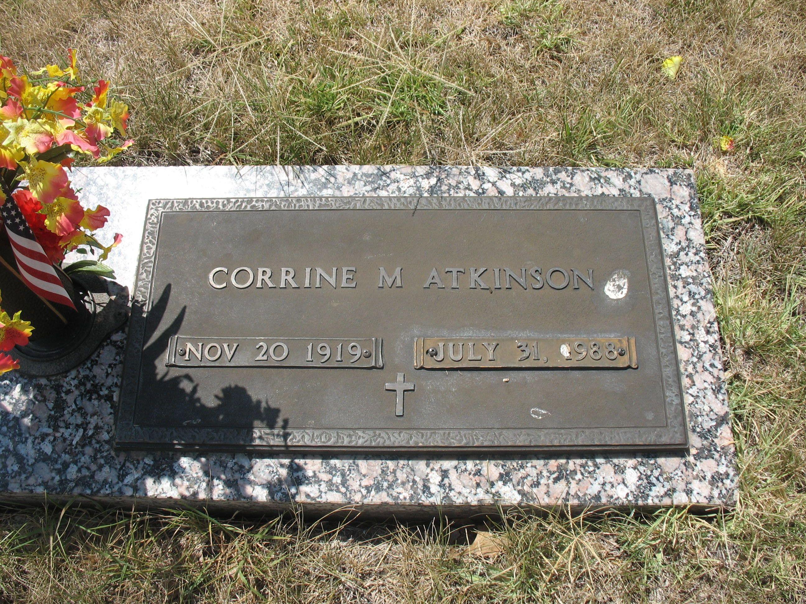 Corrine M Atkinson