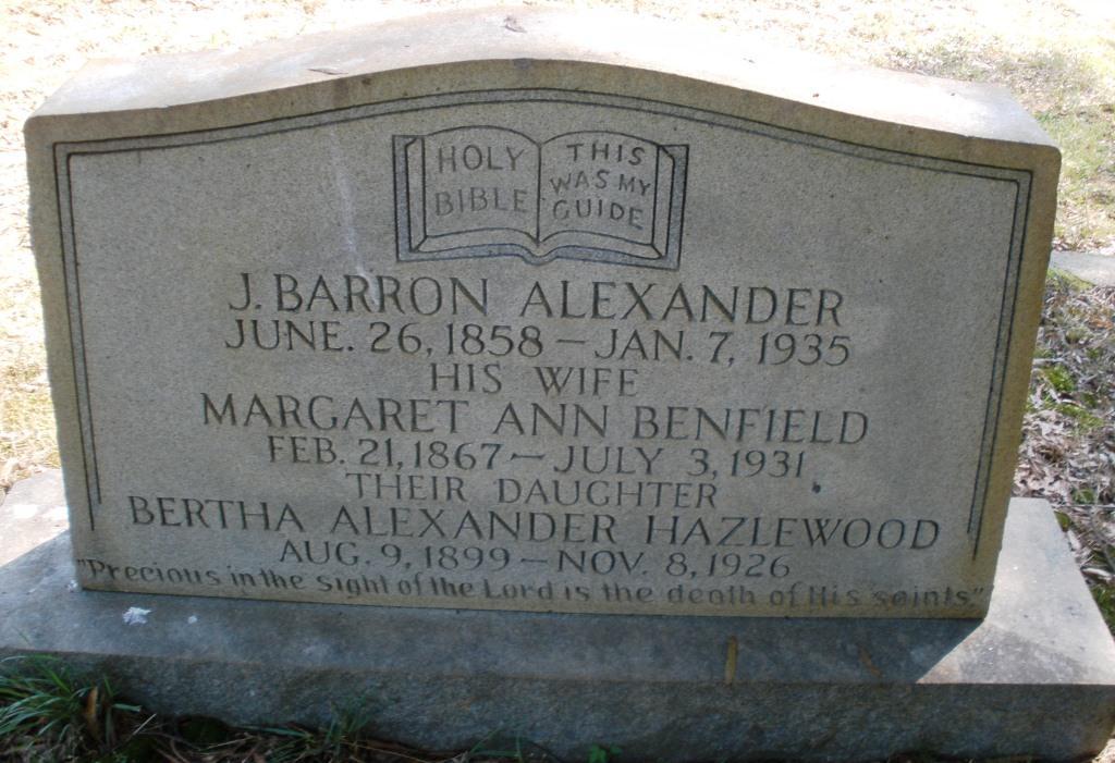 Margaret Ann <i>Benfield</i> Alexander