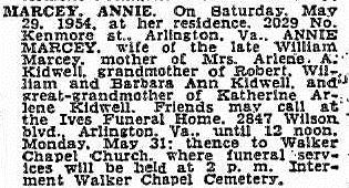 Anna Elizabeth Annie <i>Chamberlain</i> Marcey