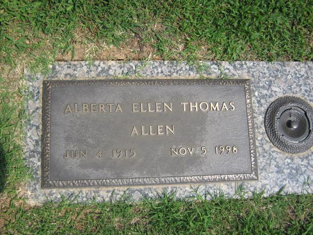 Alberta Ellen <i>Thomas</i> Allen