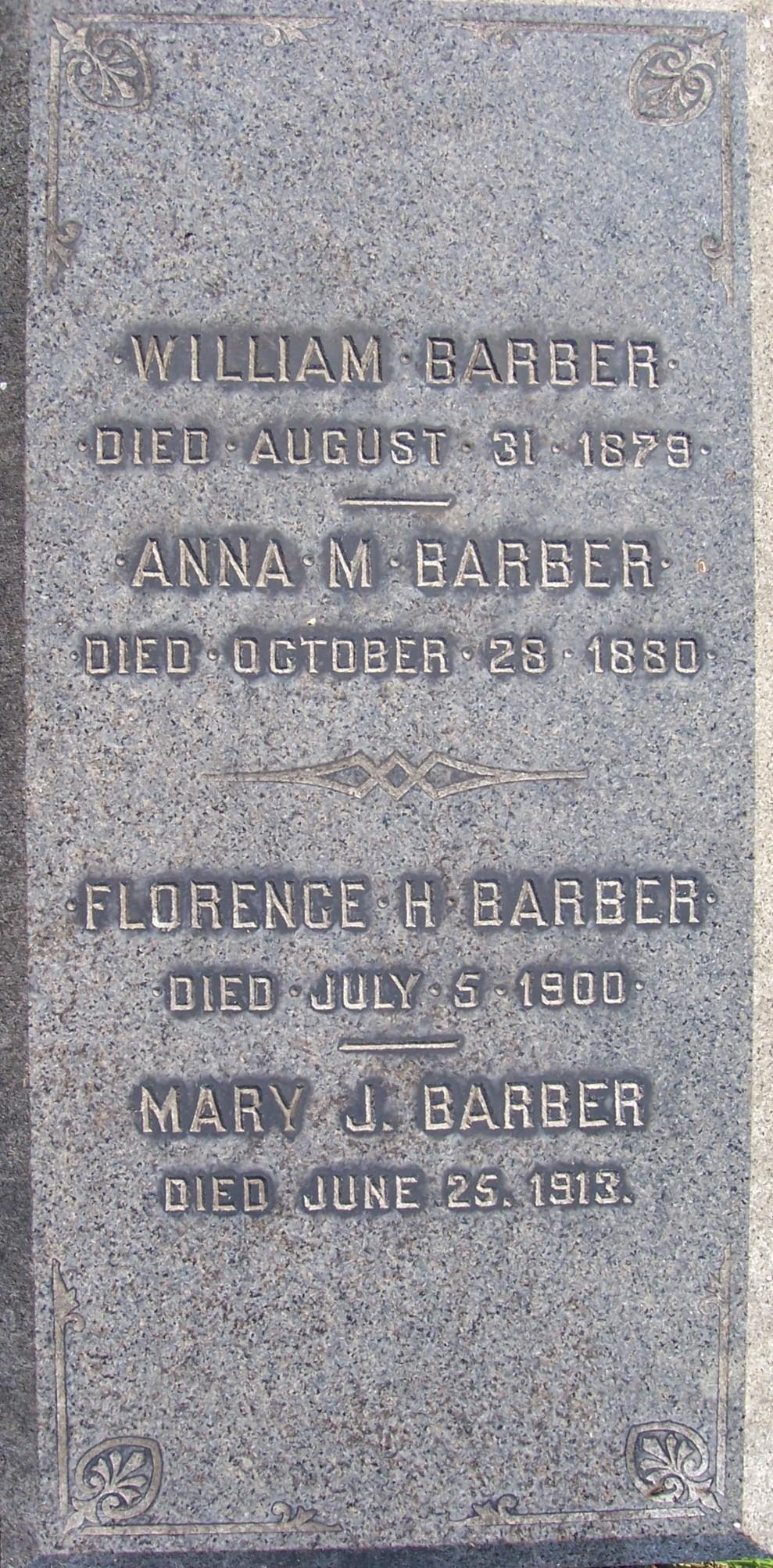 Florence H Barber