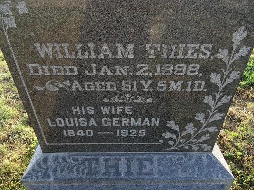 Louisa F <i>German</i> Thies