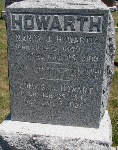 Nancy Jane <i>Bovee</i> Howarth