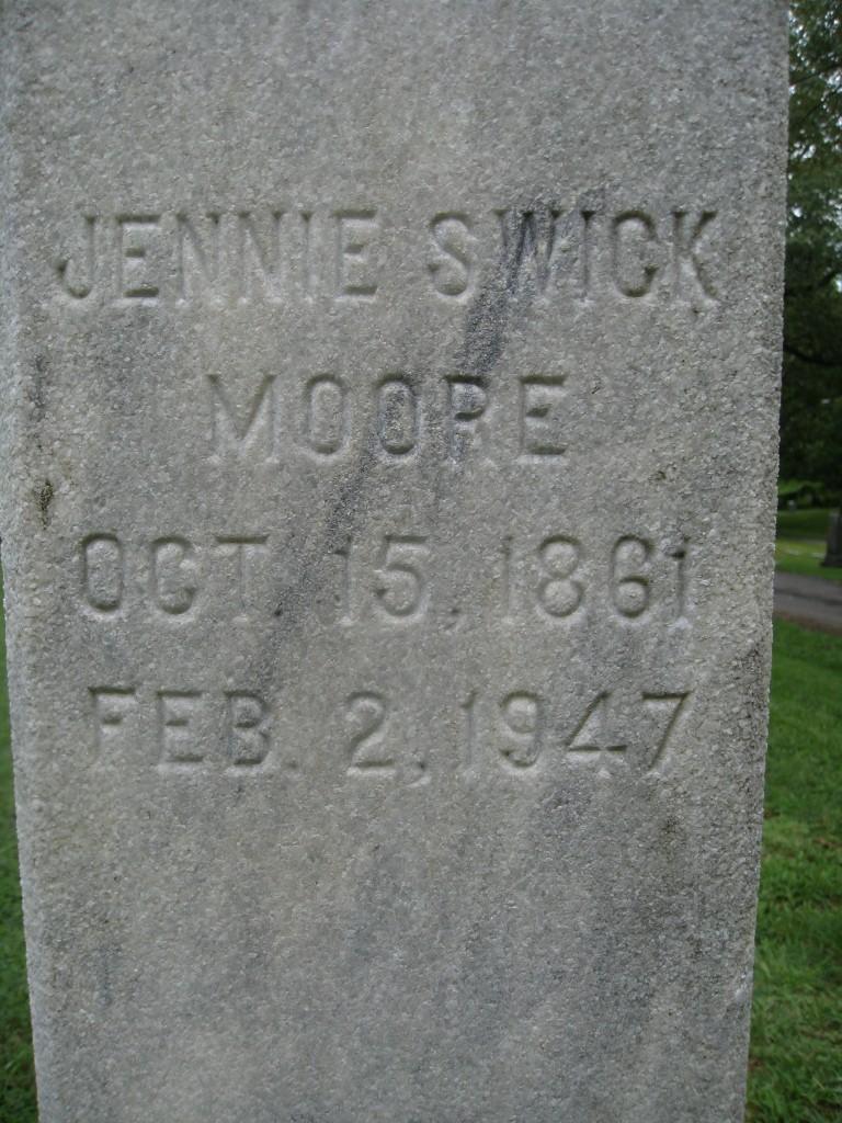 Jennie <i>Swick</i> Moore