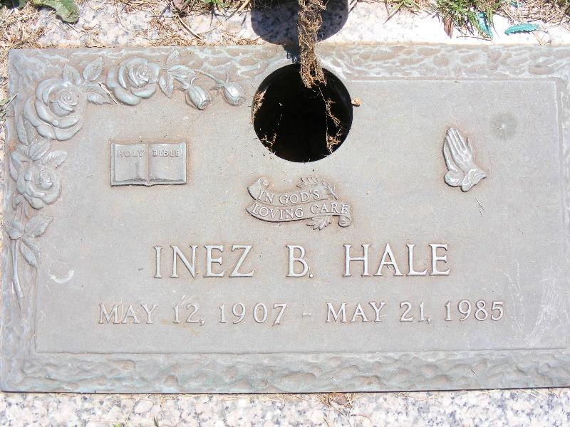 Inez <i>Babb</i> Hale