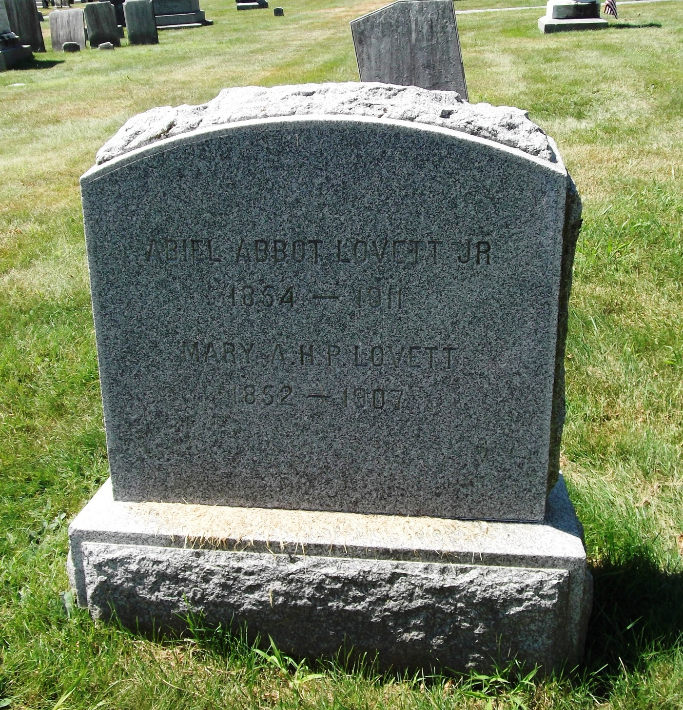 Mary A.H. <i>Palmer</i> Lovett