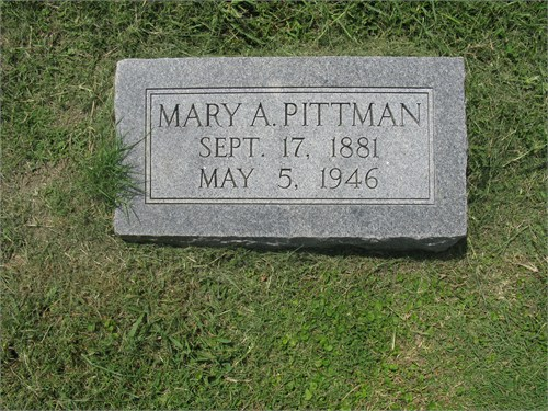 Mary A <i>McCoy</i> Pittman