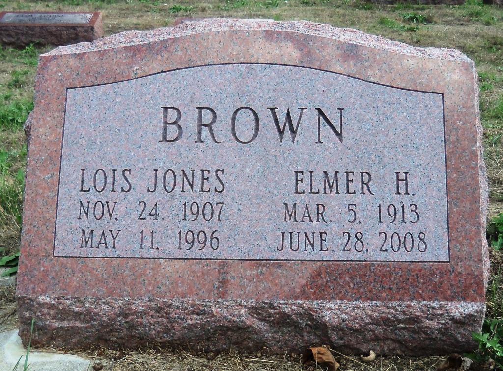 Lois Emily <i>Jones</i> Brown